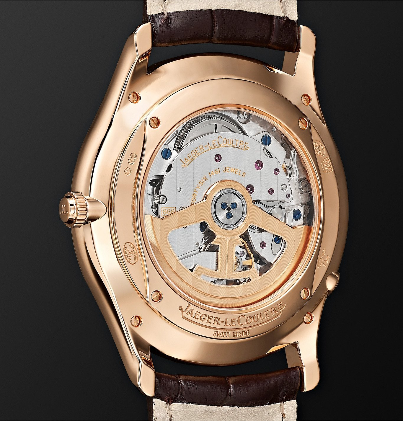 Jaeger-LeCoultre - Master Ultra Thin Perpetual Automatic 39mm 18-Karat Rose Gold and Alligator Watch, Ref. No. 1302520 - Neutrals