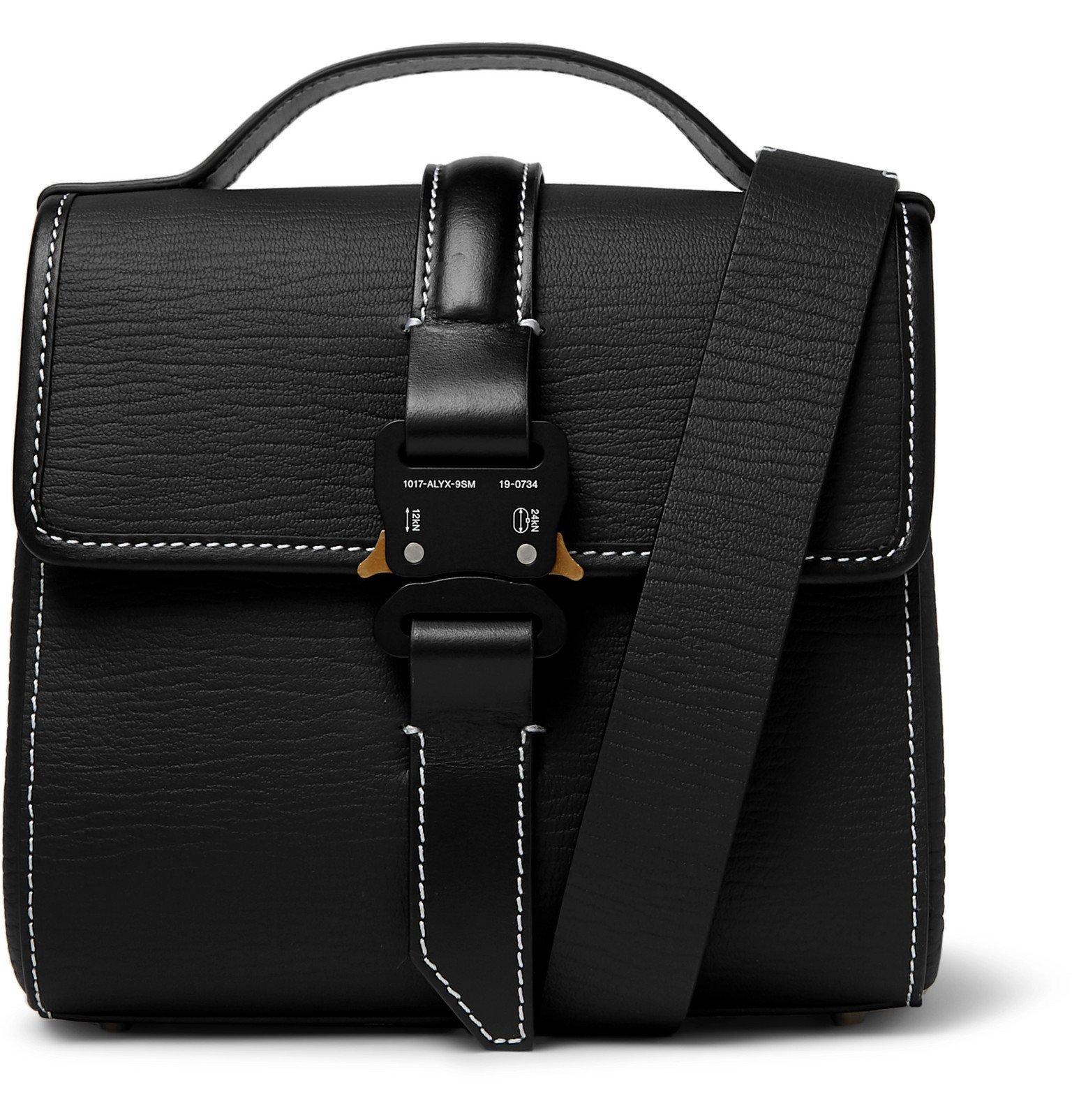 Photo: 1017 ALYX 9SM - Anna Textured-Leather Messenger Bag - Black