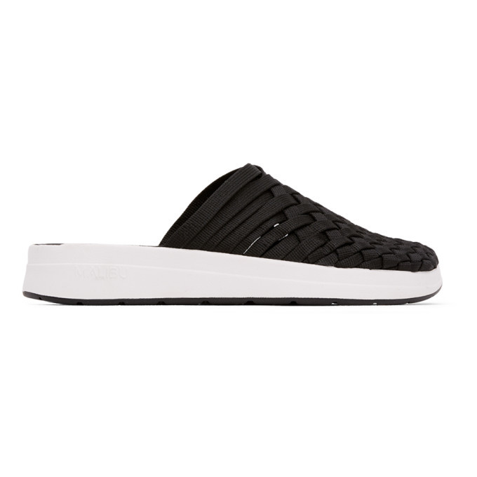 Photo: Malibu Sandals Black and White Colony Sandals