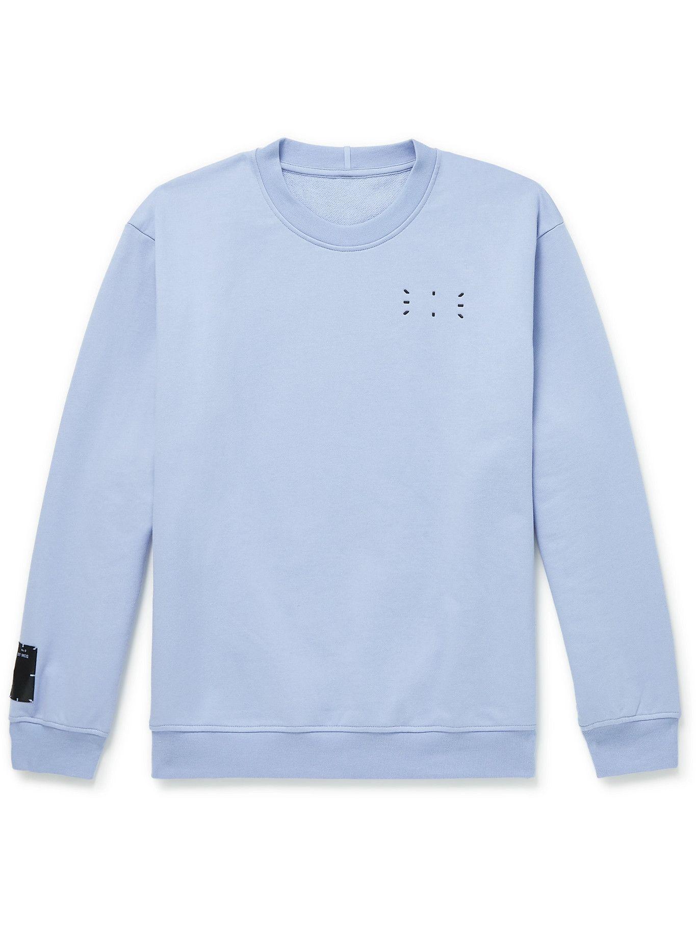 Photo: MCQ - Appliquéd Cotton-Jersey Sweatshirt - Blue