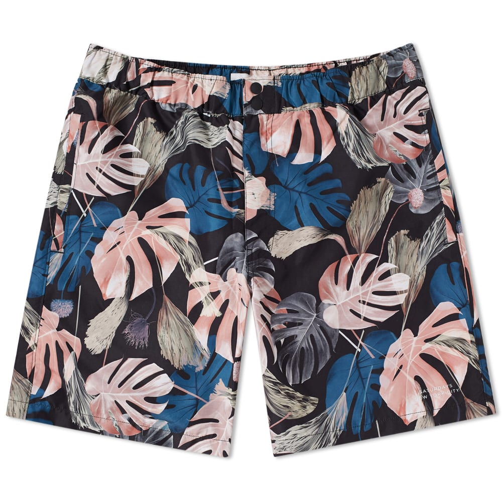 Photo: Saturdays NYC Trent Monstera Swim Short