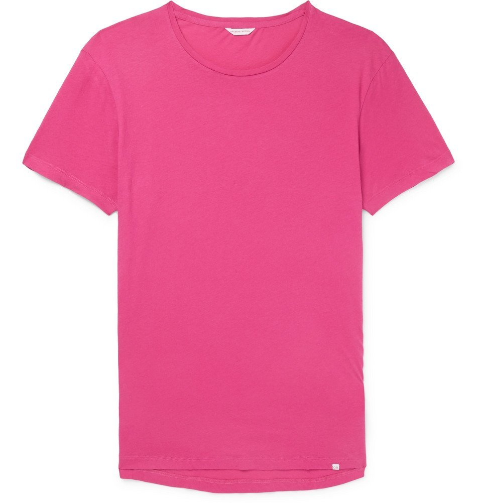 Photo: Orlebar Brown - OB-T Slim-Fit Cotton-Jersey T-Shirt - Men - Pink