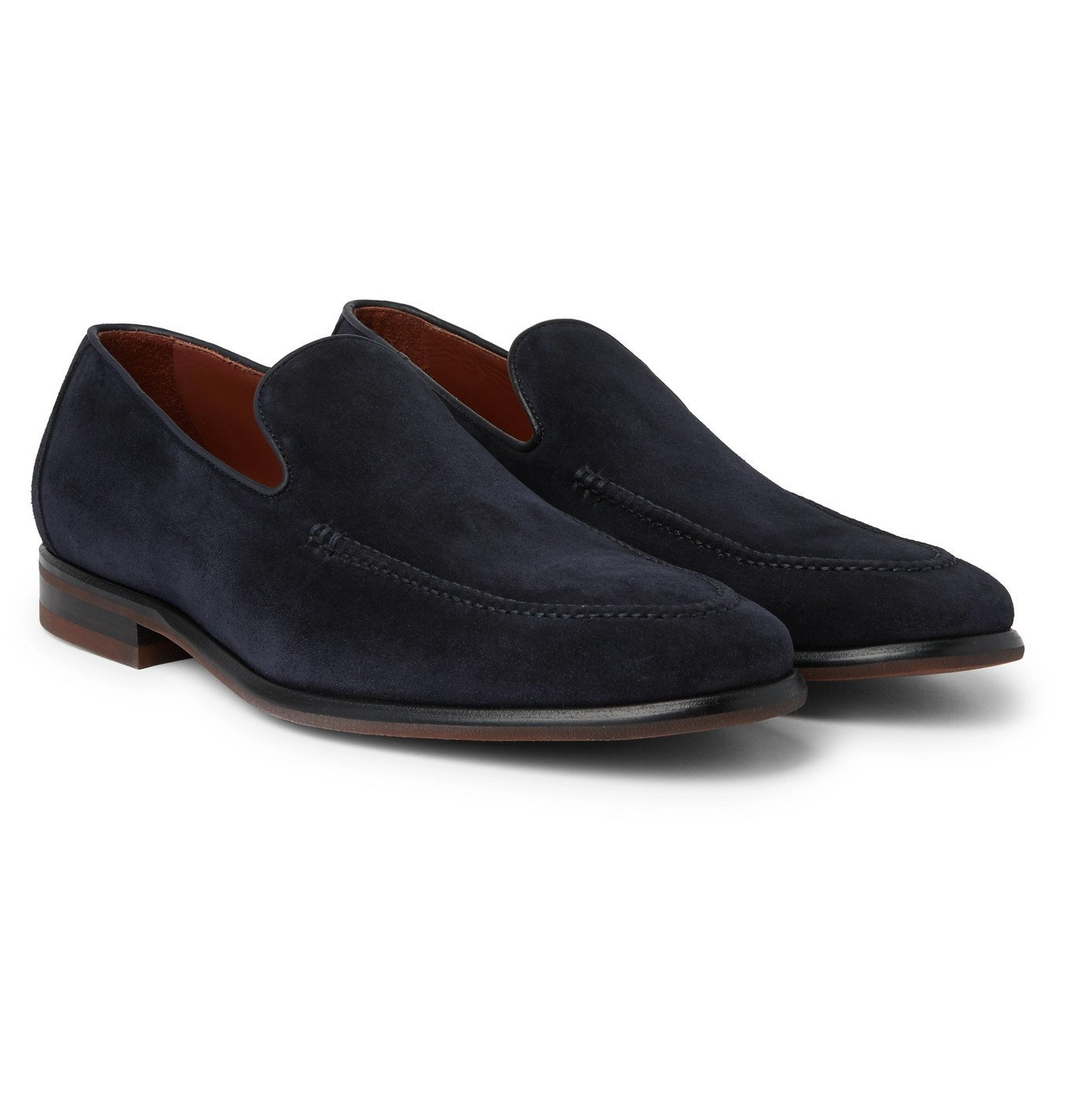 Photo: Loro Piana - City Suede Loafers - Blue