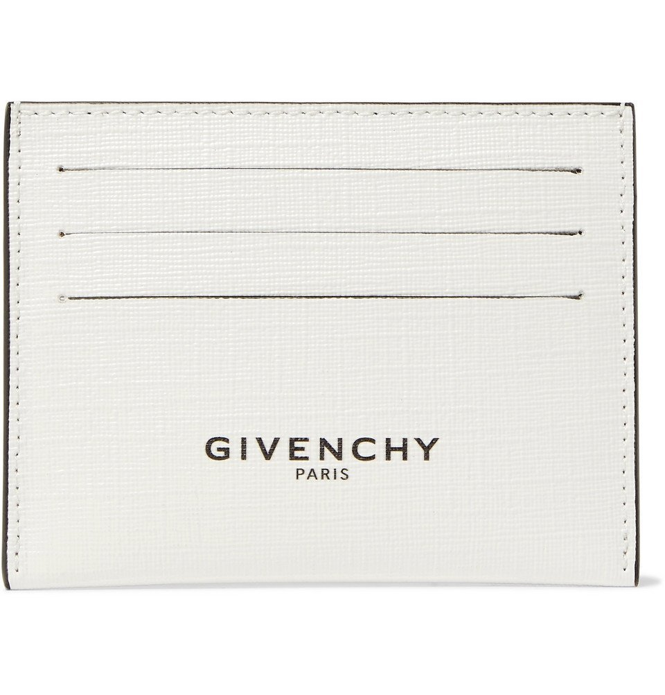 Photo: Givenchy - Glow-in-the-Dark Logo-Print Coated-Canvas Cardholder - White