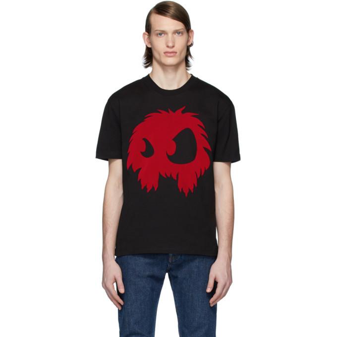 Photo: McQ Alexander McQueen Black Flocked Logo T-Shirt