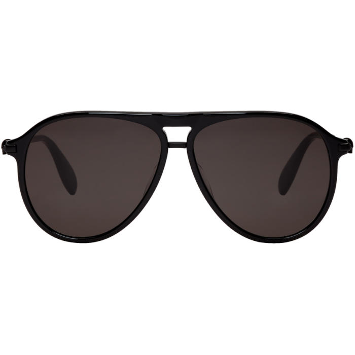 Photo: Alexander McQueen Black Semi-Matte Sunglasses