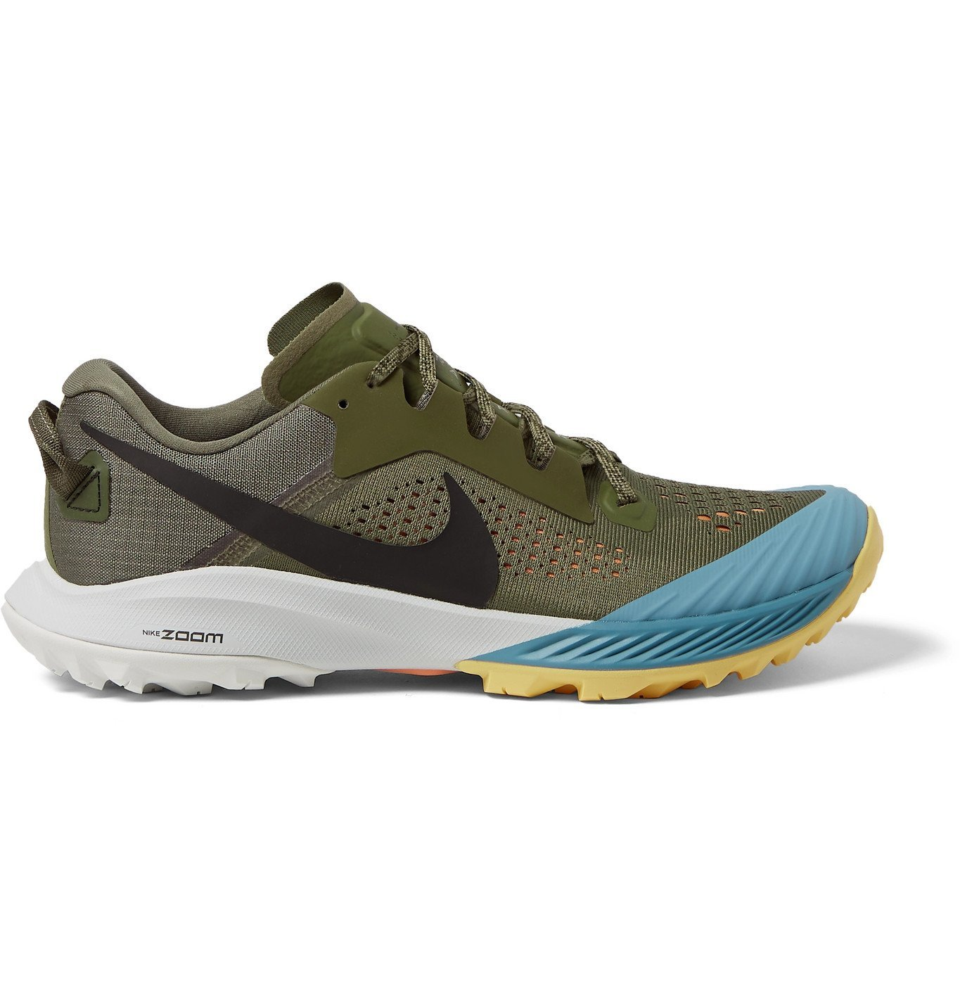 Nike Running - Air Zoom Terra Kiger 6 Rubber-Trimmed Mesh Trail Running Sneakers - Green
