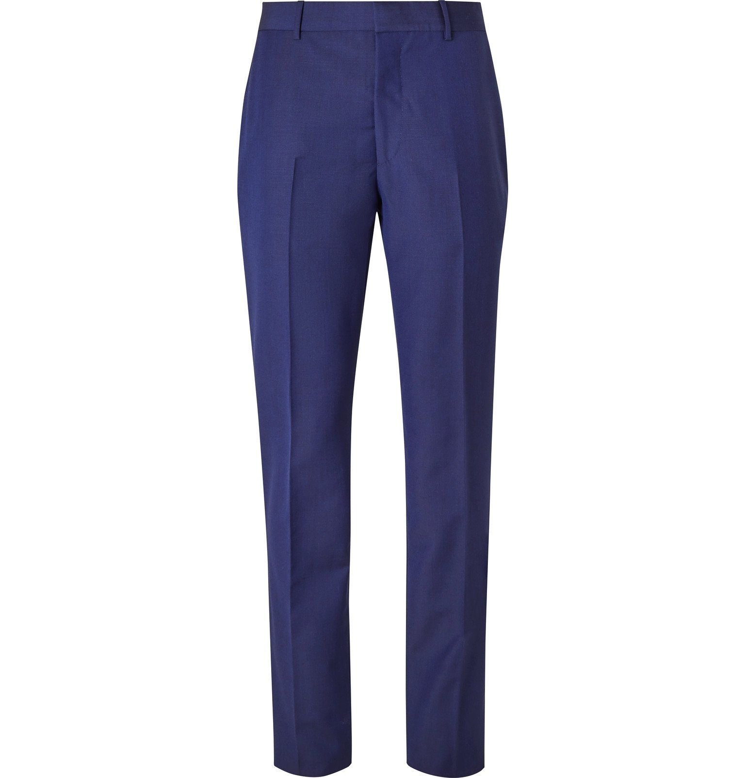 Photo: Alexander McQueen - Pink Slim-Fit Wool and Mohair-Blend Suit Trousers - Blue