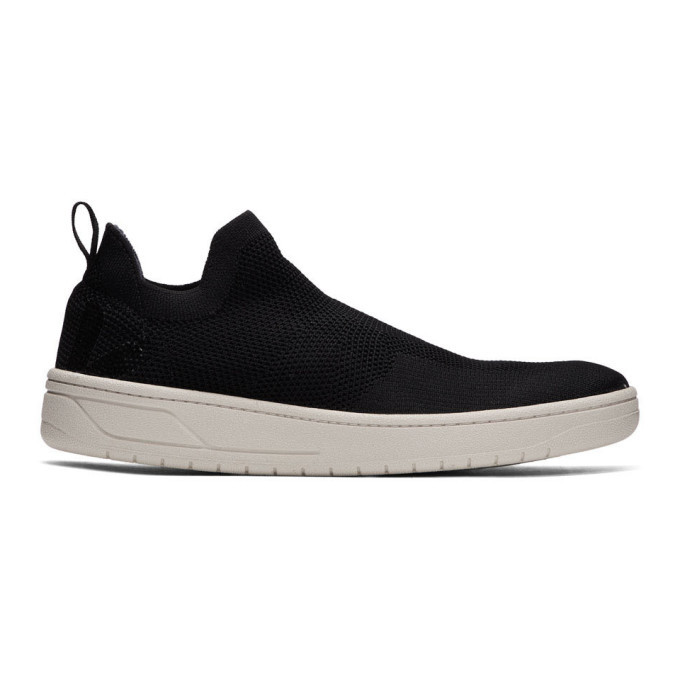 Photo: Lemaire Black Veja Edition Aquashoe V-Knit Bastille Sneakers