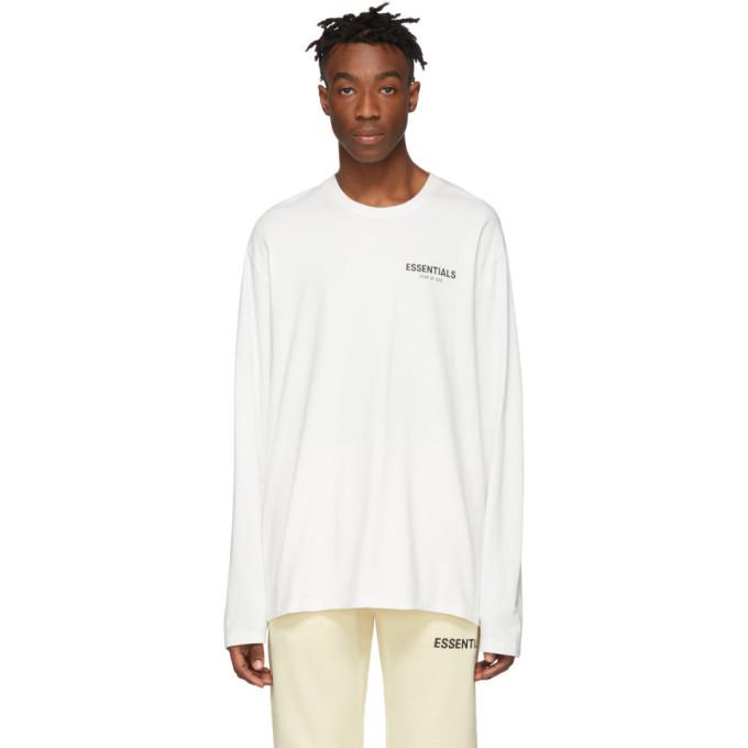 Photo: Essentials White Logo Long Sleeve T-Shirt