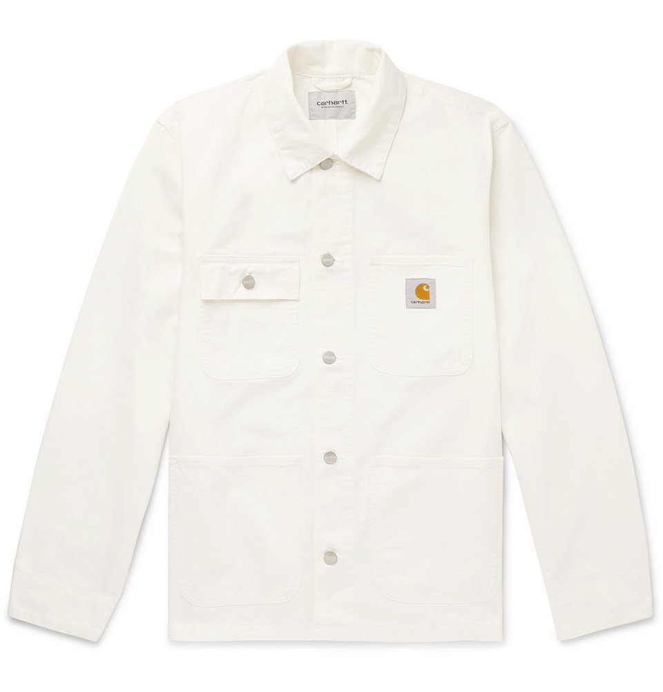 Photo: Carhartt WIP - Michigan Cotton-Twill Chore Jacket - White