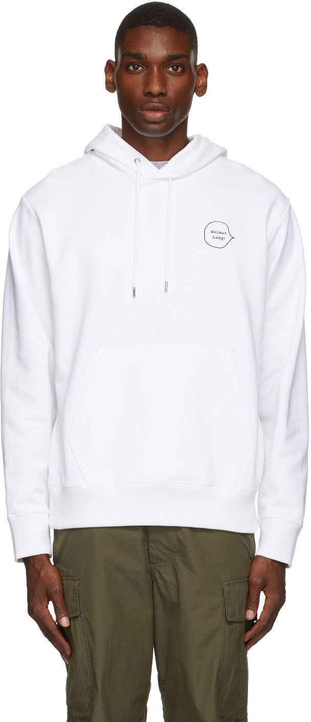 Photo: Helmut Lang White Puppy Hoodie