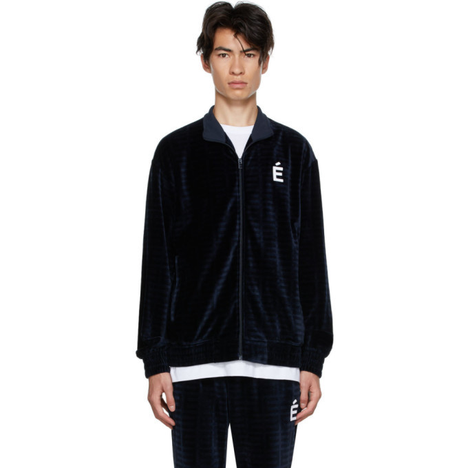 Photo: Etudes Navy Velvet Major Track Jacket