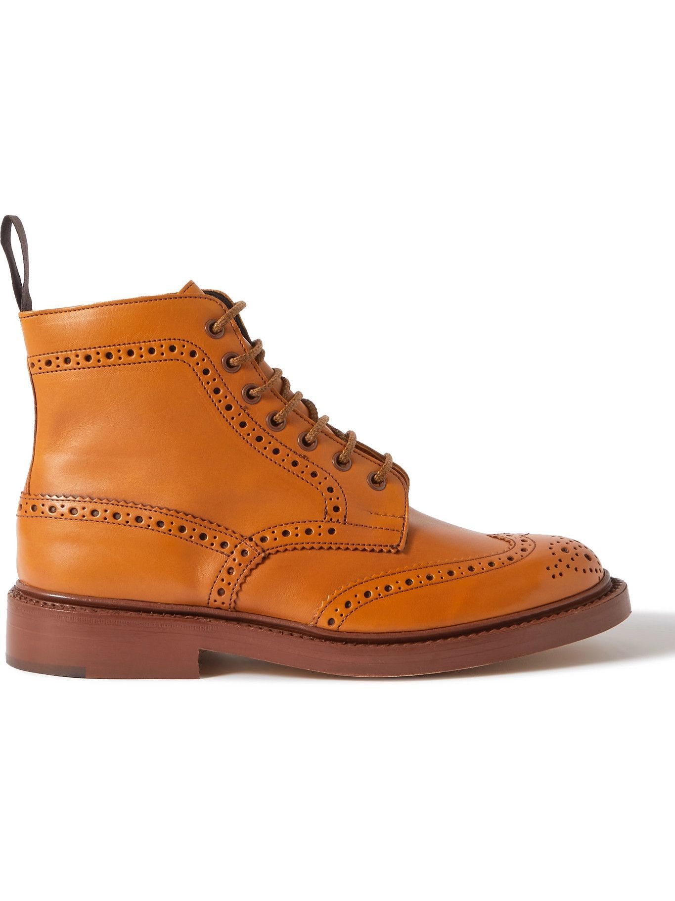 Photo: Tricker's - Stow Leather Brogue Boots - Brown