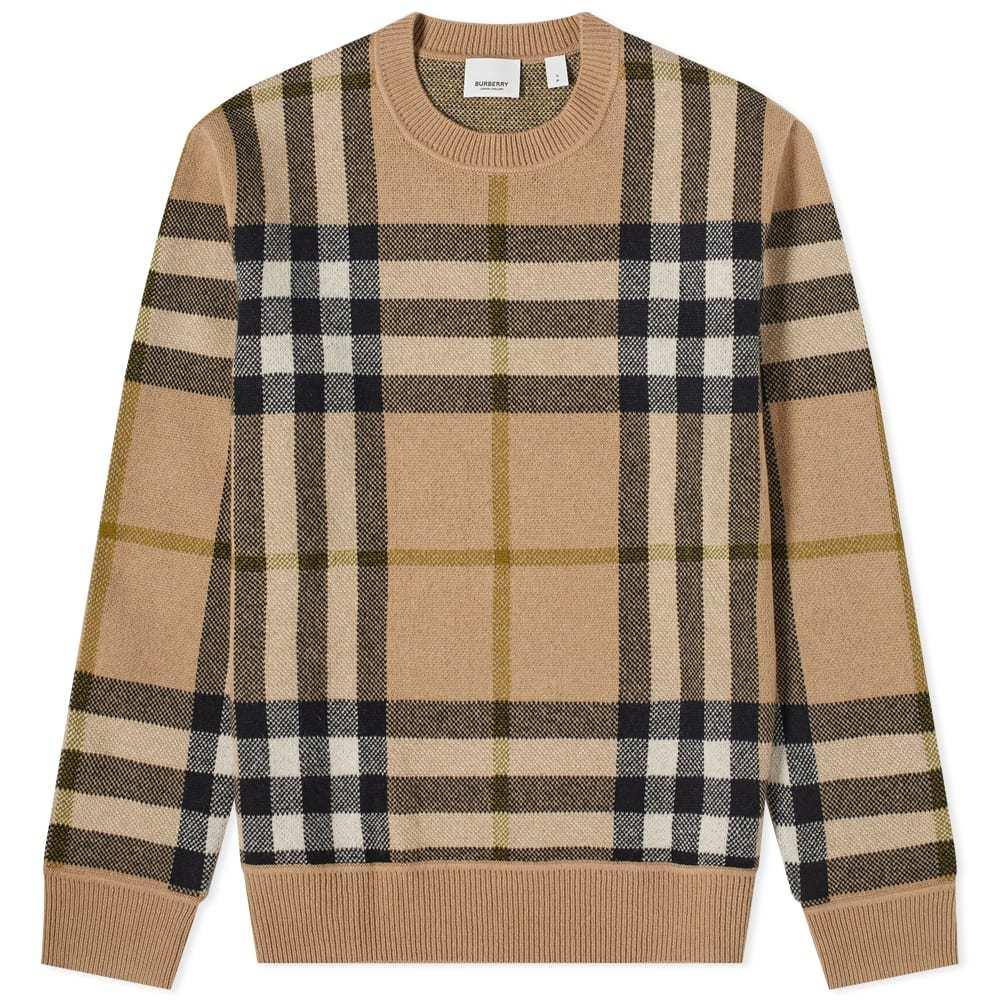 Photo: Burberry Nixon Large Check Cashmere Knit