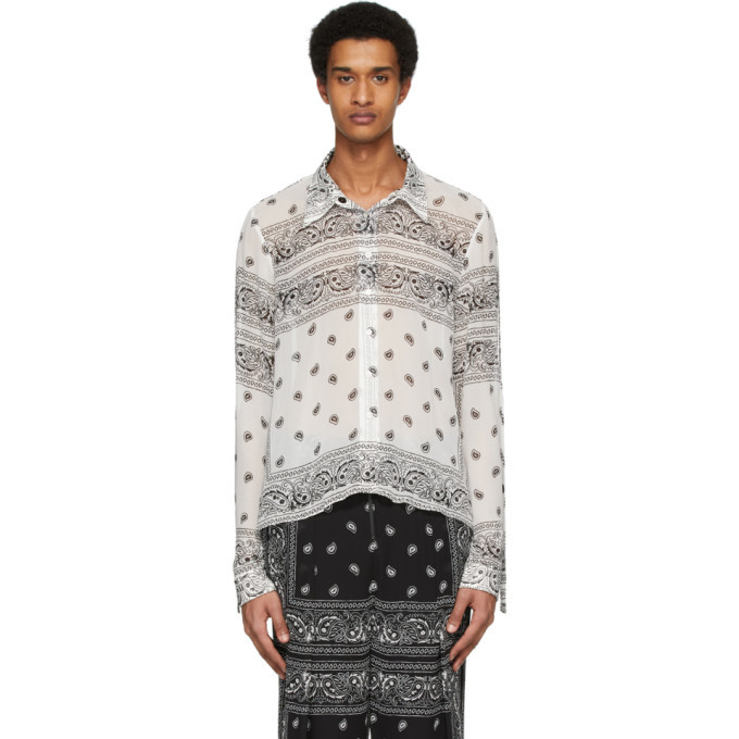 Photo: Dion Lee White and Black Paisley Shirt