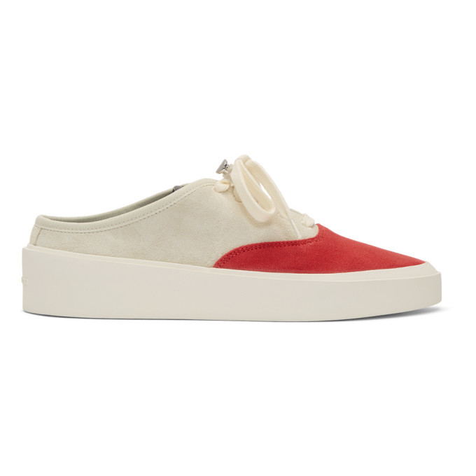 Photo: Fear of God Grey and Red 101 Backless Sneakers