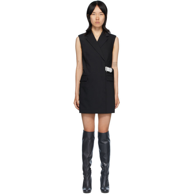 Photo: Helmut Lang Black Belted Vest Dress