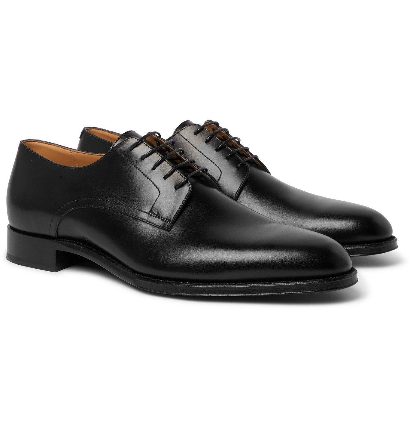 DUNHILL - Kensington Leather Derby Shoes - Black