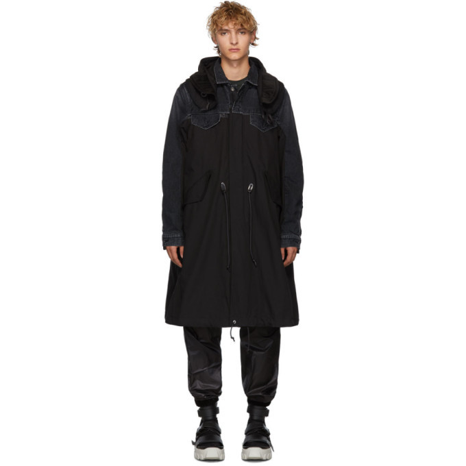 Photo: Sacai Black Denim Coat
