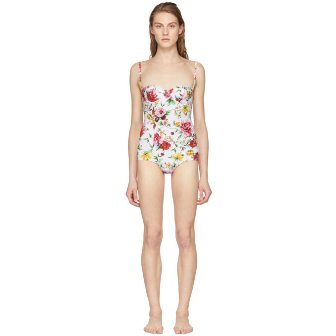 Photo: Dolce and Gabbana Multicolor Floral Print Swimsuit