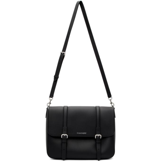 Photo: Alexander McQueen Black Buckle Messenger Bag