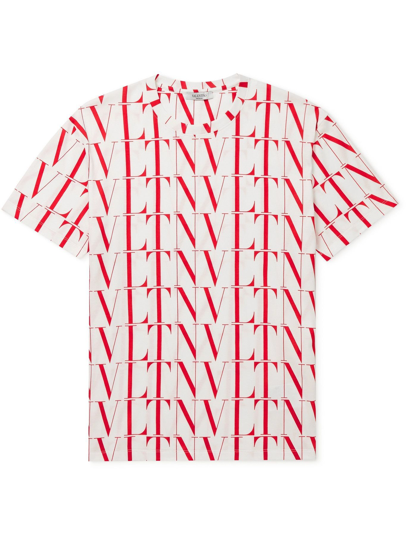 Photo: VALENTINO - Logo-Print Cotton-Jersey T-Shirt - Multi