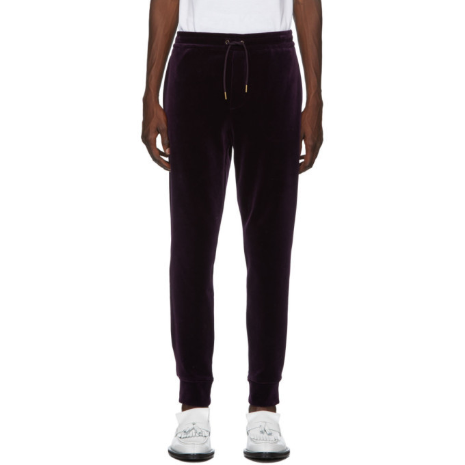 Photo: Ralph Lauren Purple Label Purple Velvet Track Pants