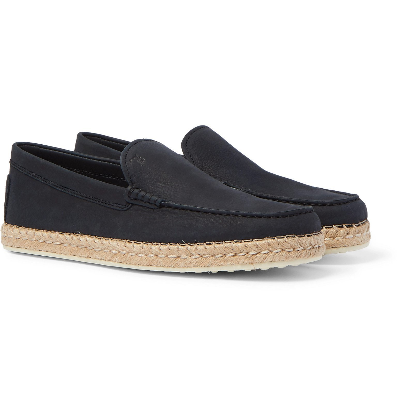 Photo: Tod's - Nubuck Loafer Espadrilles - Blue