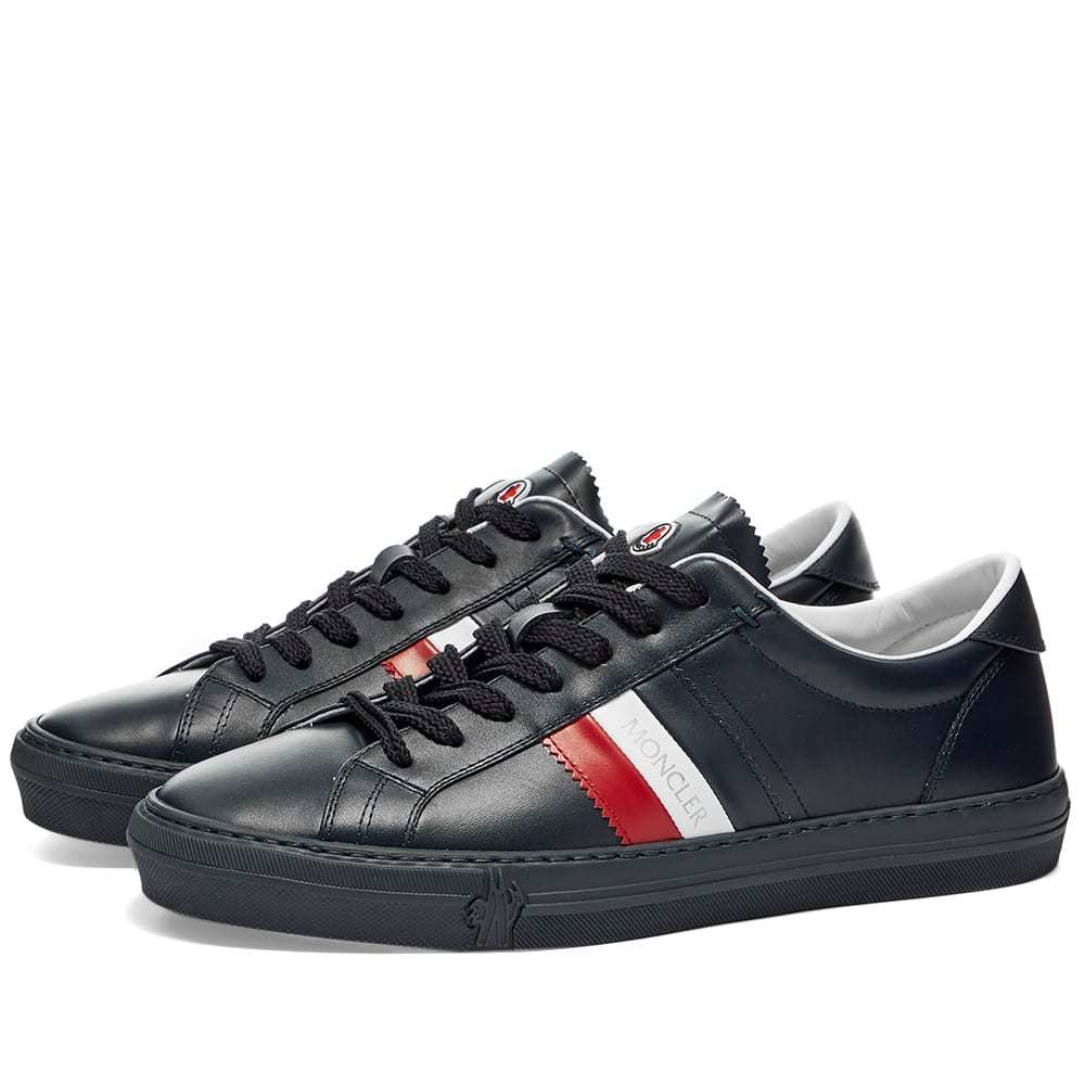Photo: Moncler New Monaco Tricolour Band Cupsole Sneaker