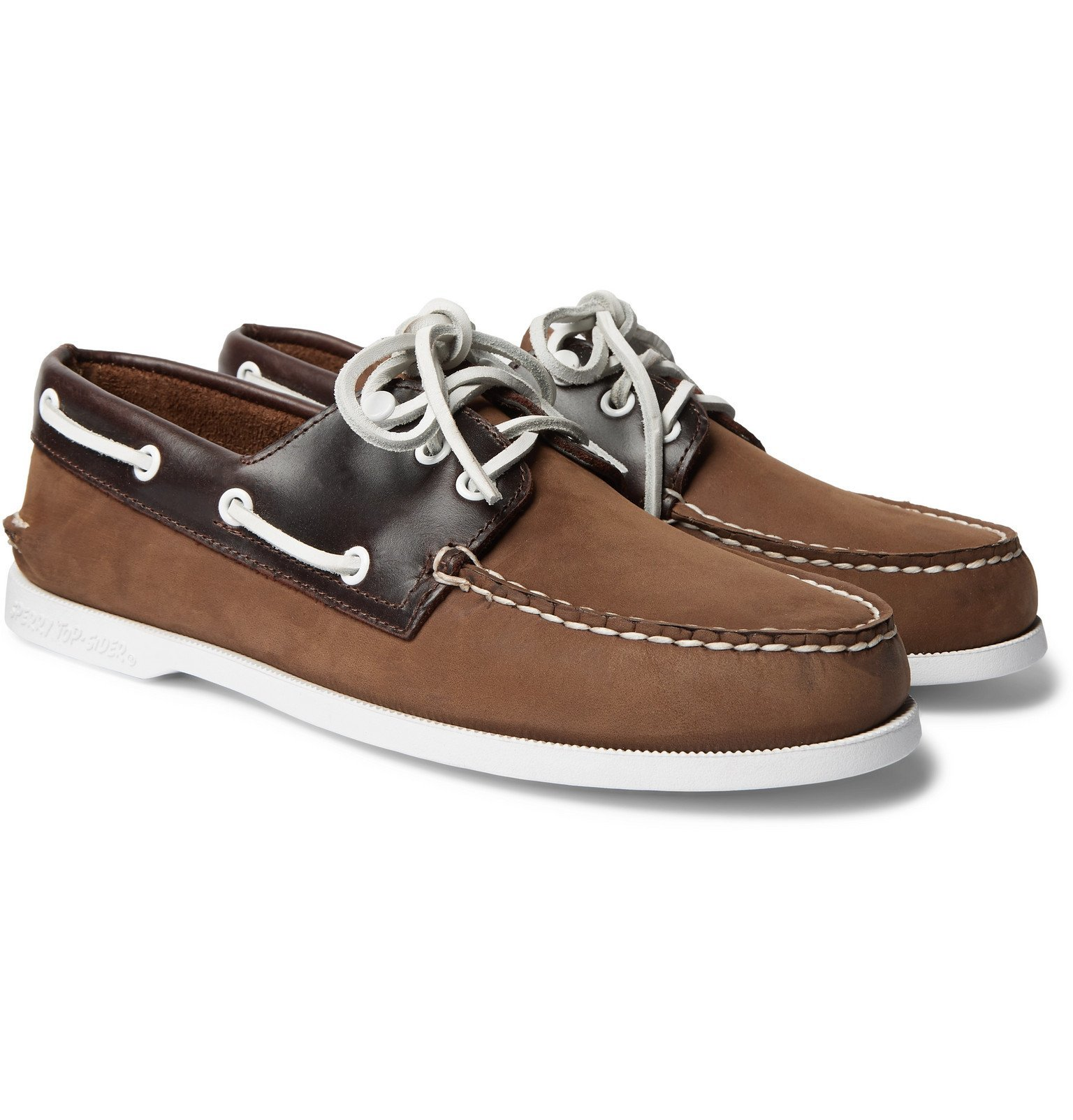 Photo: Sperry - Authentic Original Nubuck and Leather Boat Shoes - Brown