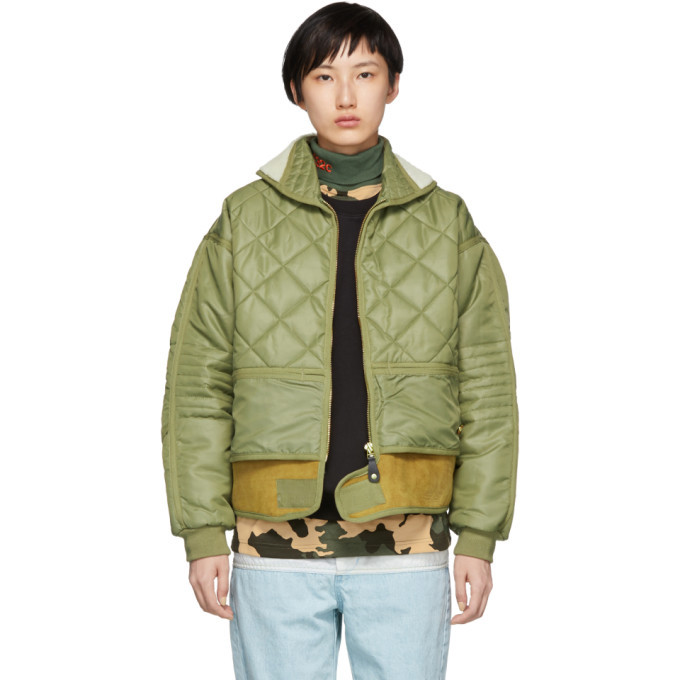 Photo: 032c Green Cosmo Bomber Jacket