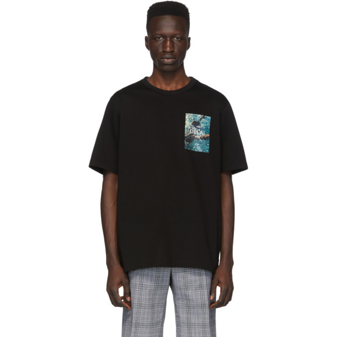 Photo: Juun.J Black Decal T-Shirt