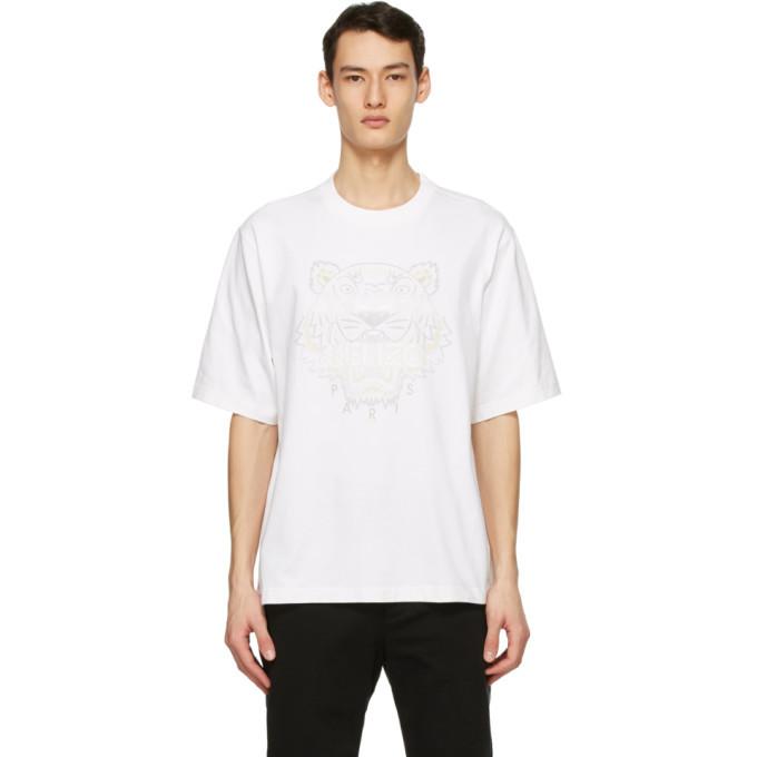 Photo: Kenzo White Oversized Gradient Tiger T-Shirt