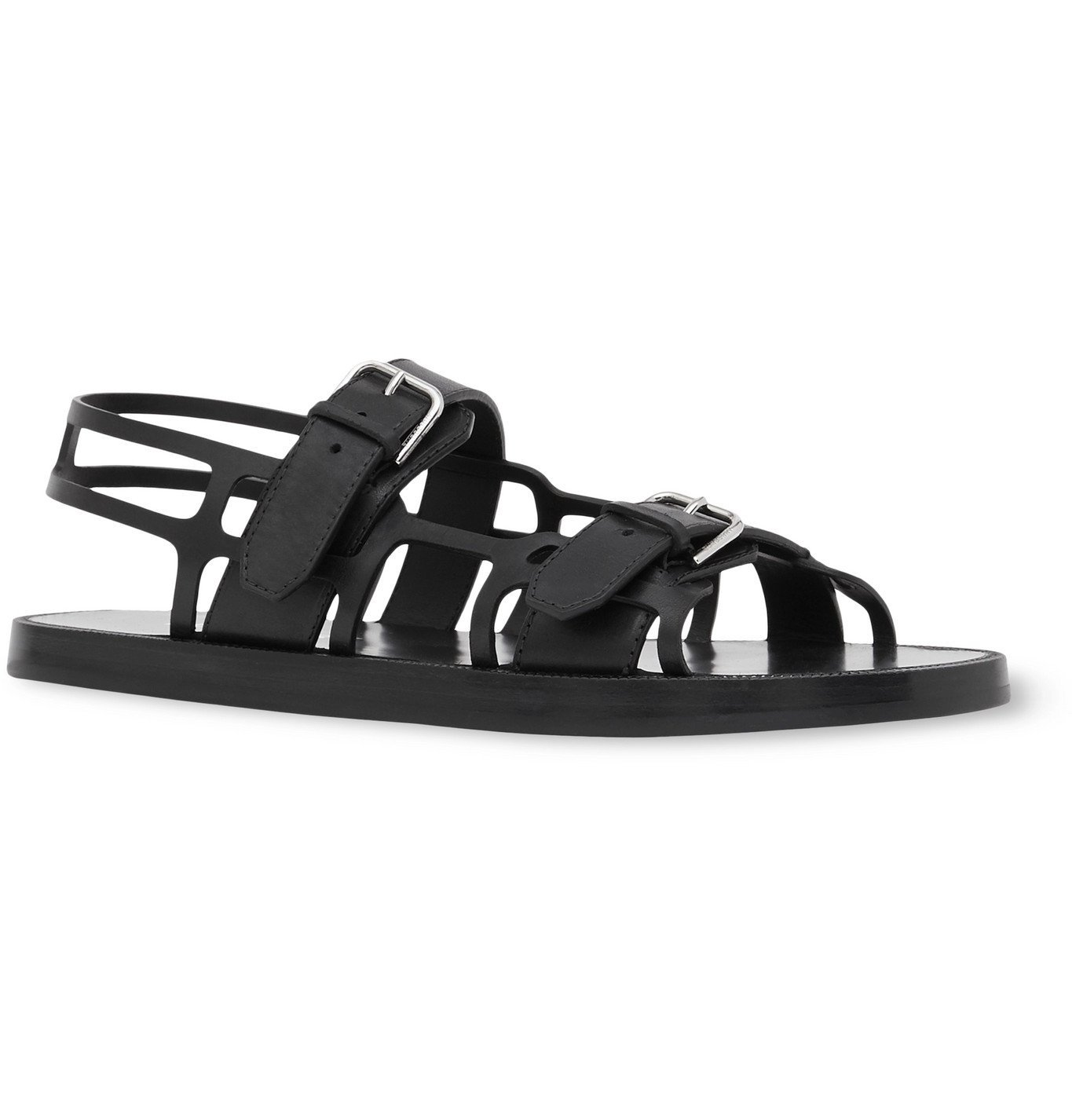 Photo: Burberry - Leather Sandals - Black