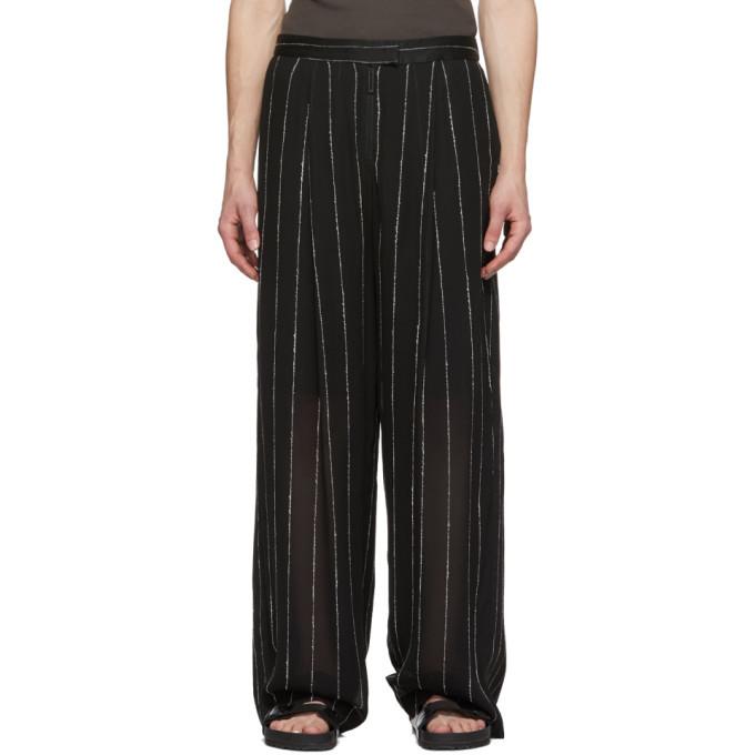 Photo: Dion Lee Black Chalk Stripe Float Trousers