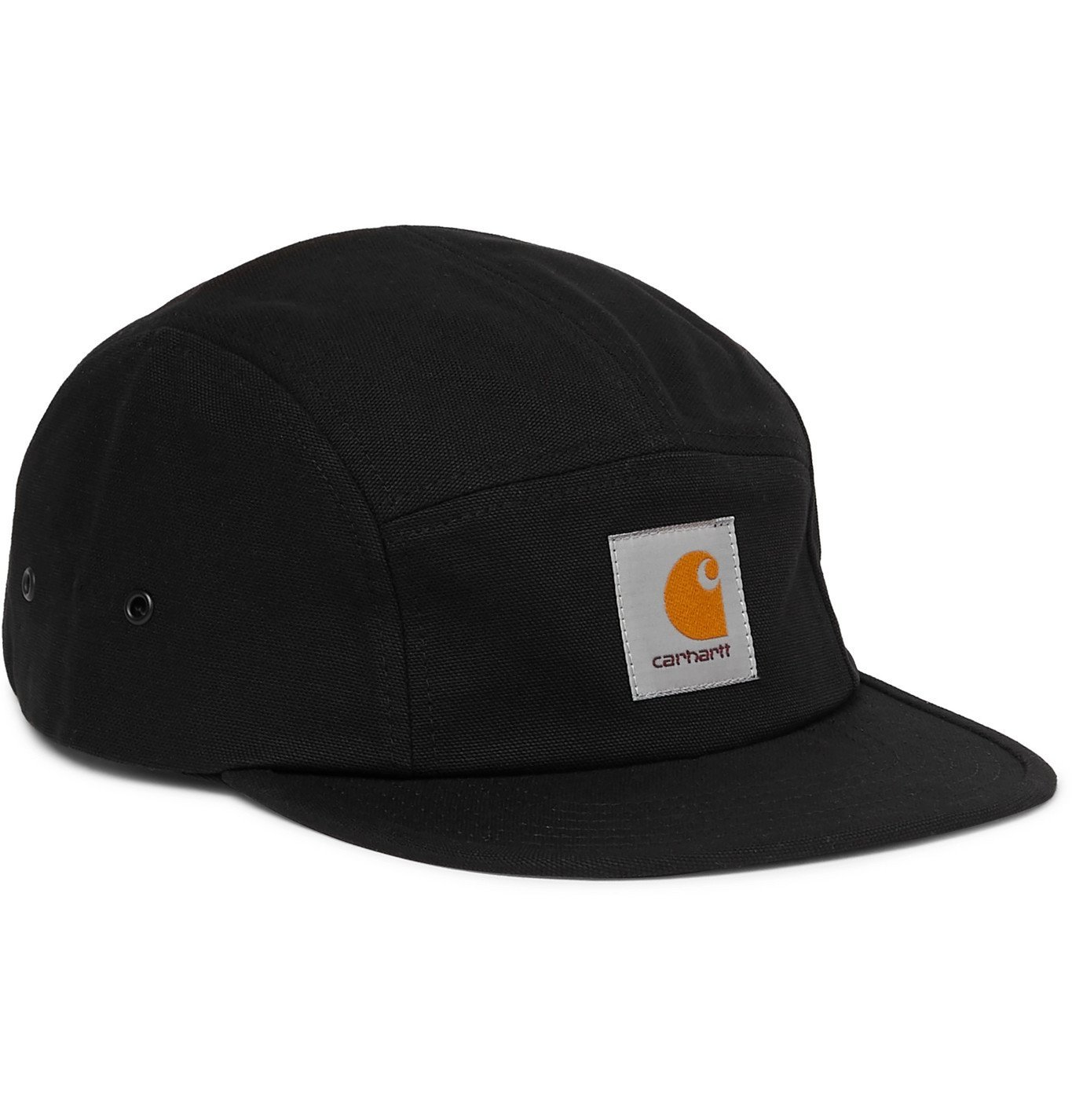 Photo: Carhartt WIP - Backley Logo-Appliquéd Cotton-Canvas Baseball Cap - Black