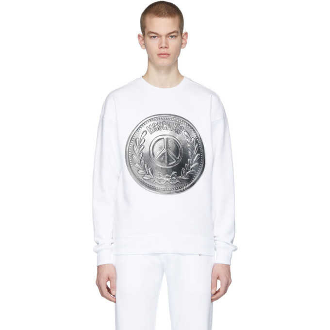 Photo: Moschino White Coin Sweatshirt