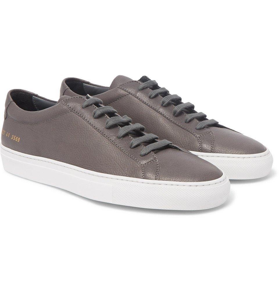 Common Projects - Original Achilles Full-Grain Leather Sneakers - Men - Dark gray