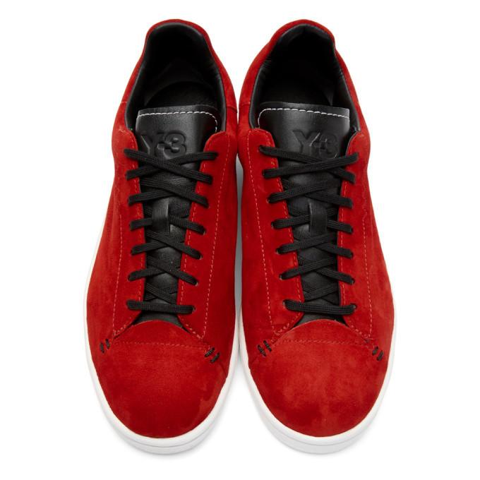 Y-3 Red Yohji Court Sneakers