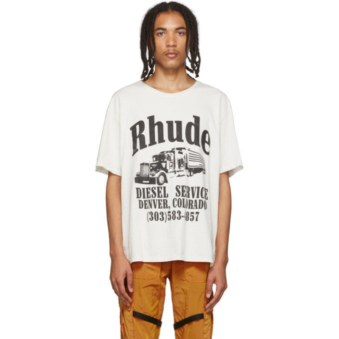 Photo: Rhude White Diesel Service T-Shirt