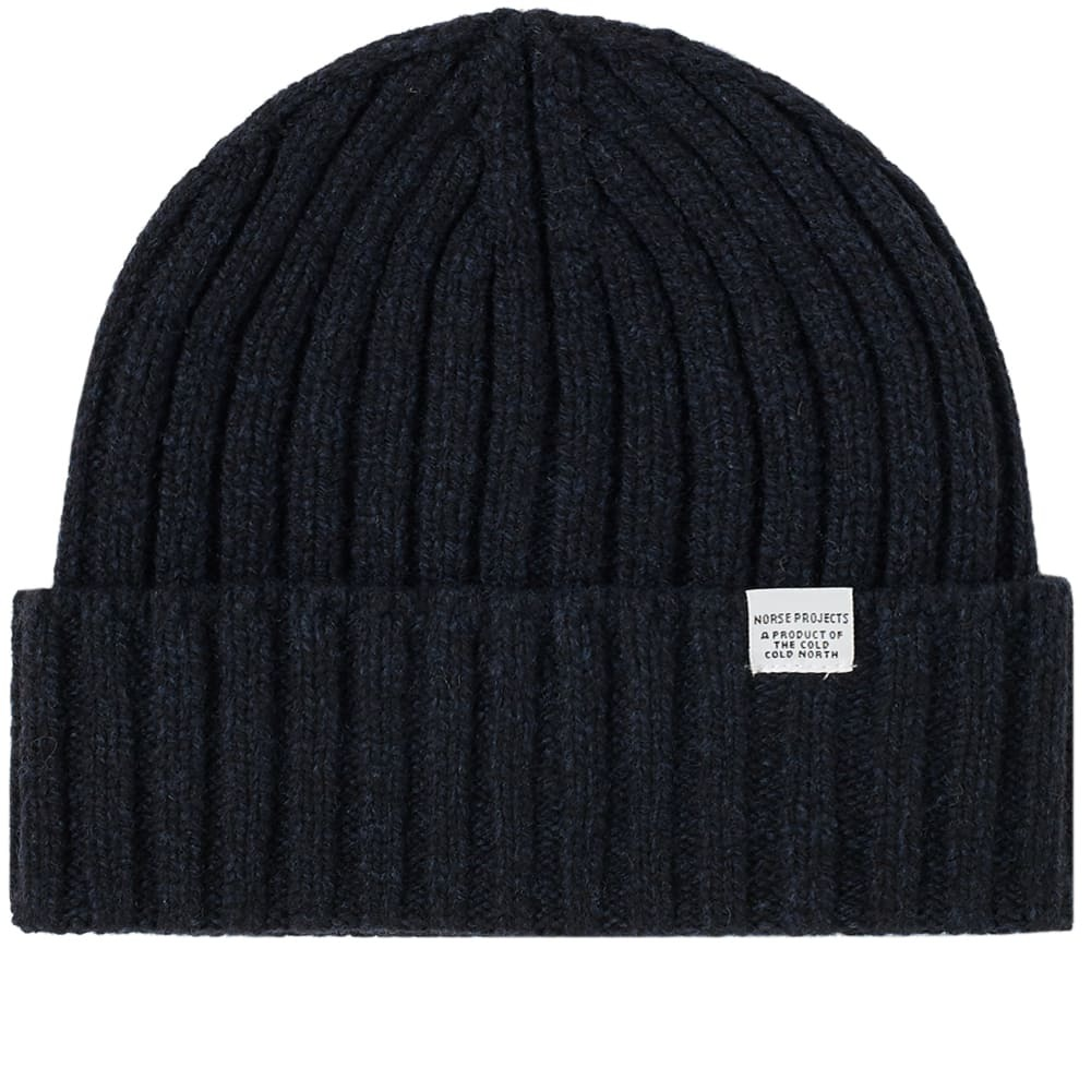 Photo: Norse Projects Wide Rib Beanie Dark Navy
