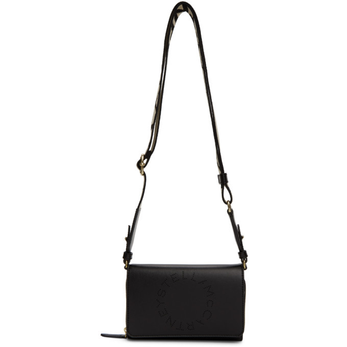 Stella McCartney Black Logo Wallet Shoulder Bag