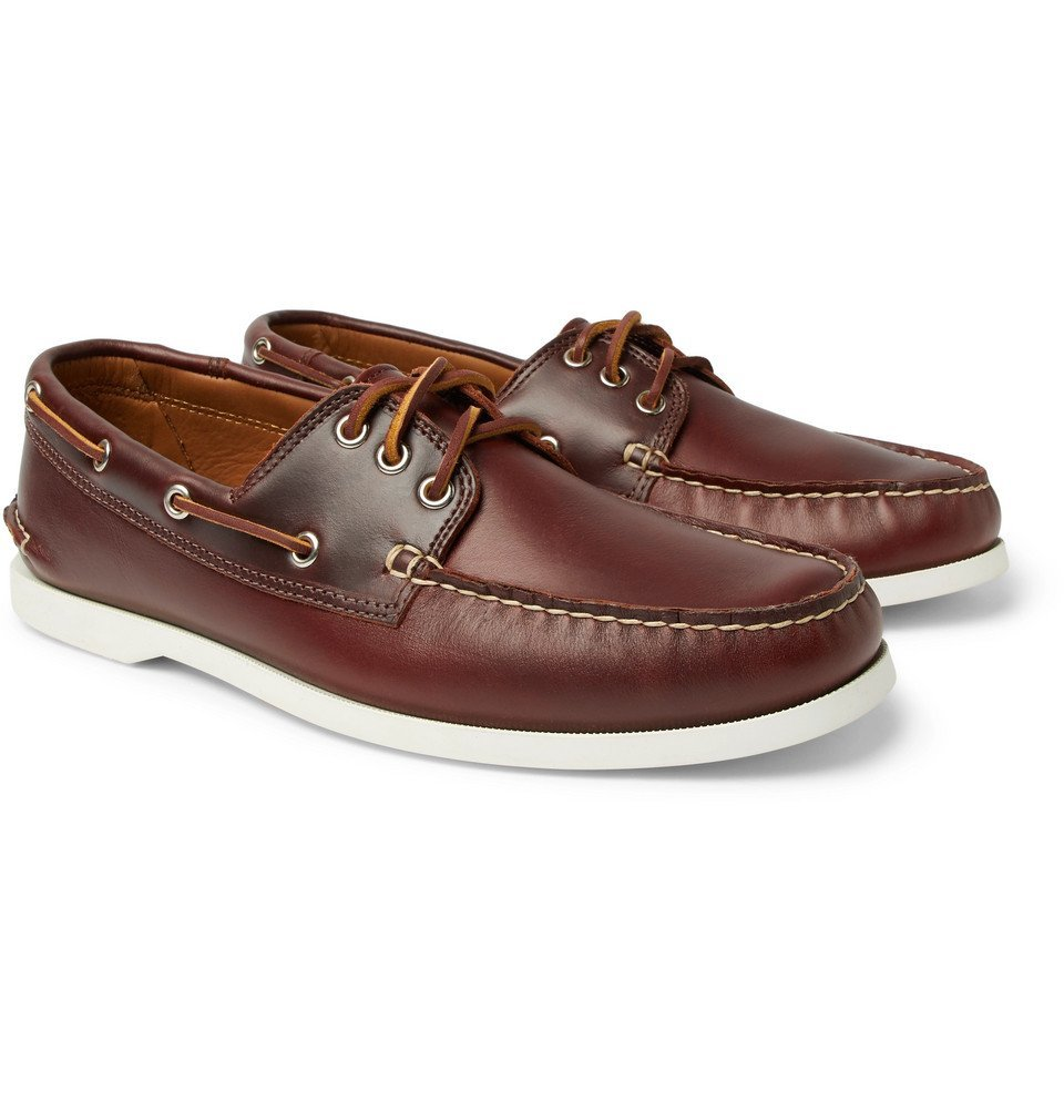 Photo: Quoddy - Downeast Leather Boat Shoes - Dark brown