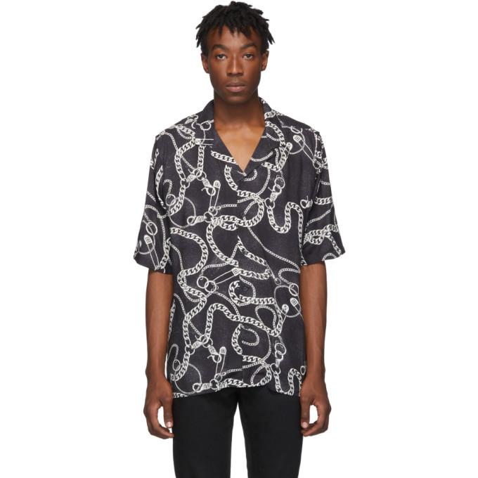 Ksubi Black Heavy Metal Resort Shirt