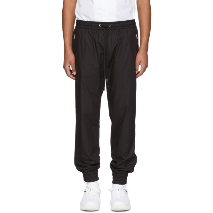 Photo: Dolce and Gabbana Black Poplin Track Pants