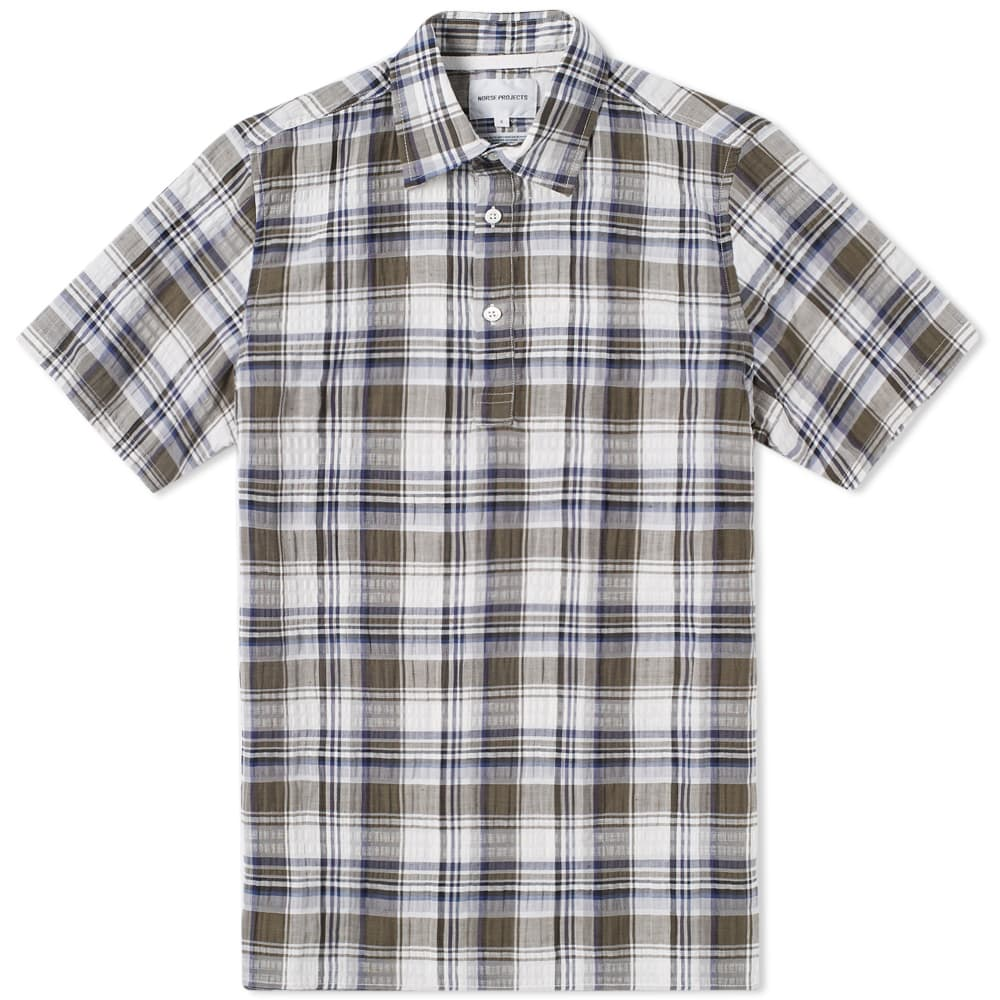 Photo: Norse Projects Short Sleeve Theo Textured Check Shirt