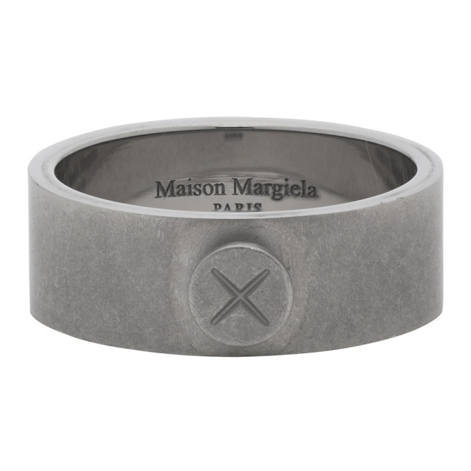 Photo: Maison Margiela Silver Screw Detail Ring
