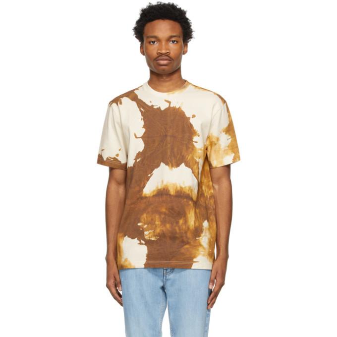 Photo: Acne Studios Beige and Brown Splatter T-Shirt