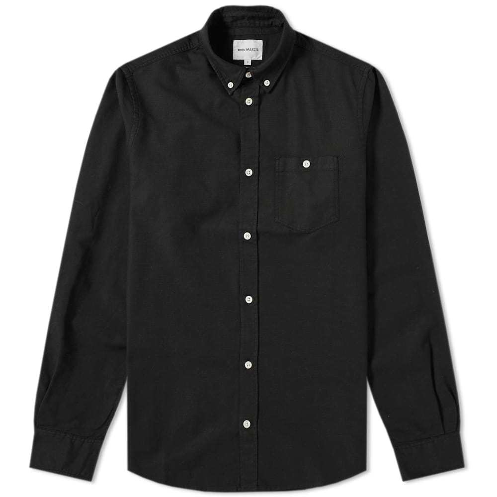 Photo: Norse Projects Anton Oxford Shirt Black